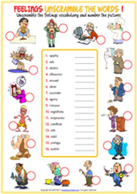 feelings esl printable worksheets and exercises