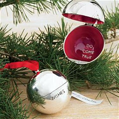 cristmas ball write name the wish dish items from envelope