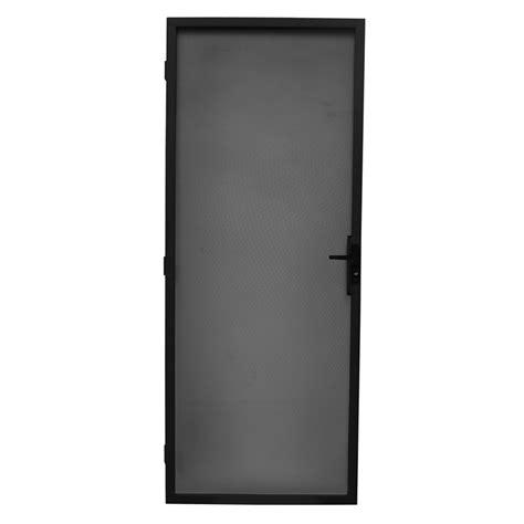 Screen Door Frame bastion 2032 x 813mm black metric steel frame