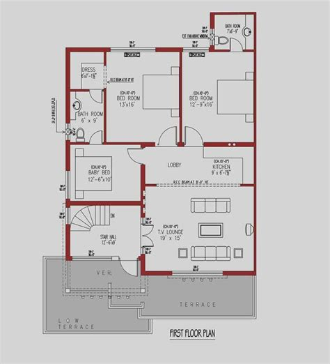 layout plan 10 marla house house floor plan by 360 design estate