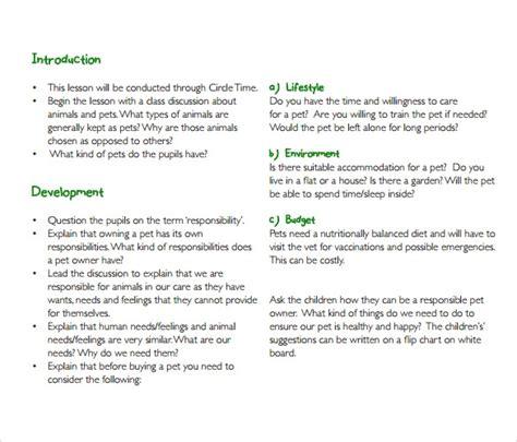sample toddler lesson plan   format