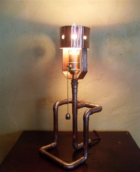 Handmade Copper Lighting - copper l with handmade copper shade by frosthillcopper