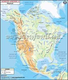 physical map of america world maps