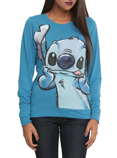 Sweater Rajut Lilo Stitch disney lilo stitch tongue pullover top topic