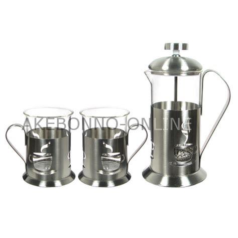 Press 350ml Akebonno peralatan minum akebonno press set with 2 cups