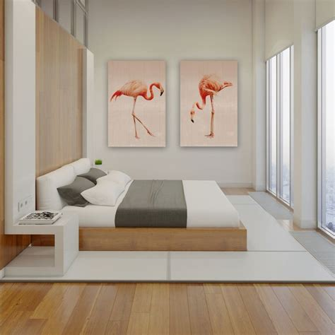 minimalistisch hout interieur print op hout flamingo interiors chambre moderne