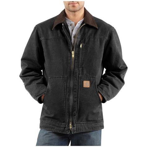 carhartt coat carhartt 174 sandstone ridge jacket 125129 insulated jackets coats at sportsman s guide