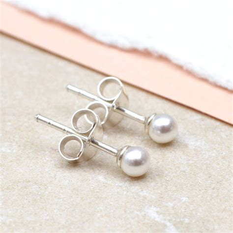 Earrings For by S Pearl And Sterling Silver Earrings By Hurleyburley