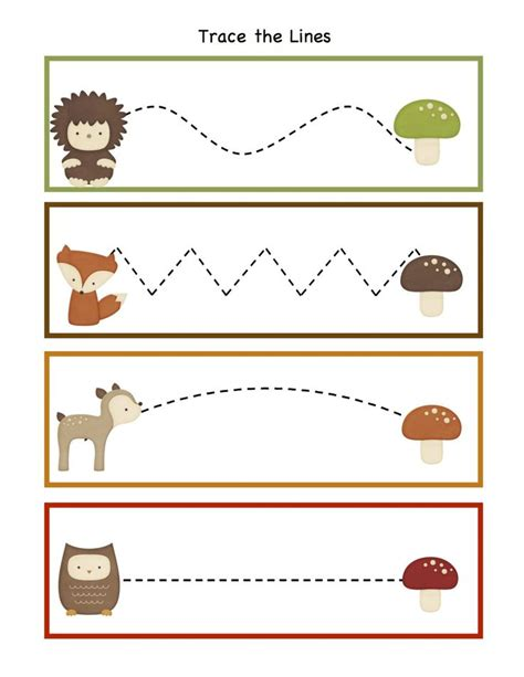 printable animal tracers preschool printables forest animals tracing pinterest