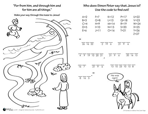 communion of saints colouring pages page 3