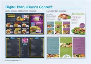 restaurant menu board templates digital menu boards guide 2014