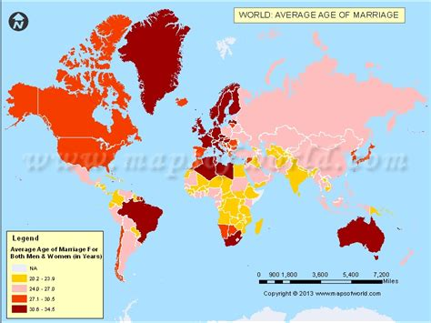 map world age average age of marriage in the world
