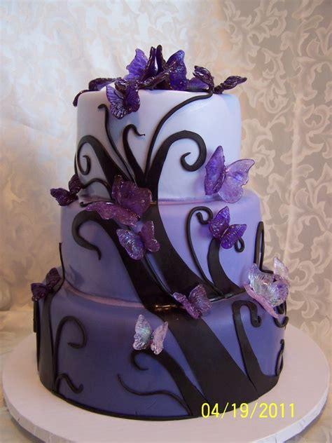 Purple Butterfly Birthday Cake
