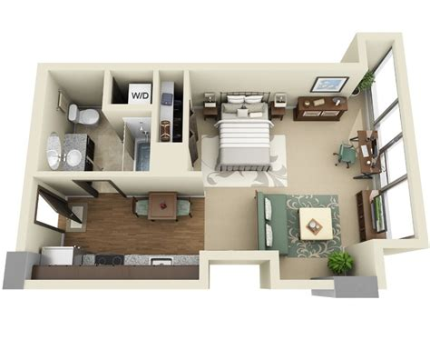 efficiency apartment layout studio apartment floor plans