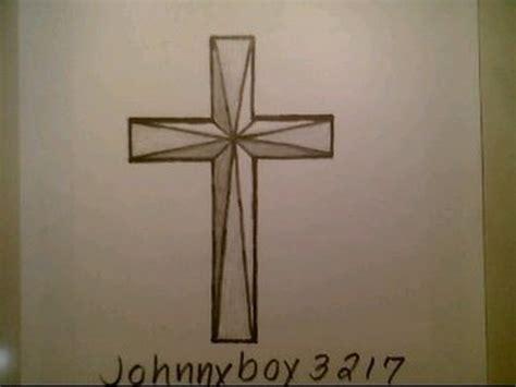 draw   cross step  step wooden crucifix tattoo
