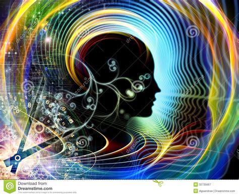 design is mind times of human mind stock illustration image of clock