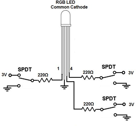 led anode cathode how to build a common cathode rgb led circuit