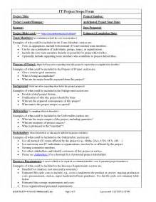 scope document template best photos of project scope document sle project