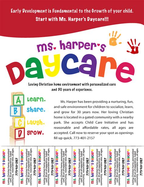 templates for daycare flyers day care flyer template