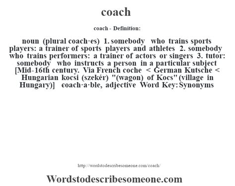 meaning of couching coach definition coach meaning words to describe someone