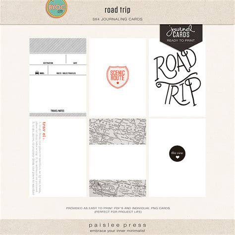 printable road trip journal the lilypad journal cards road trip journal cards