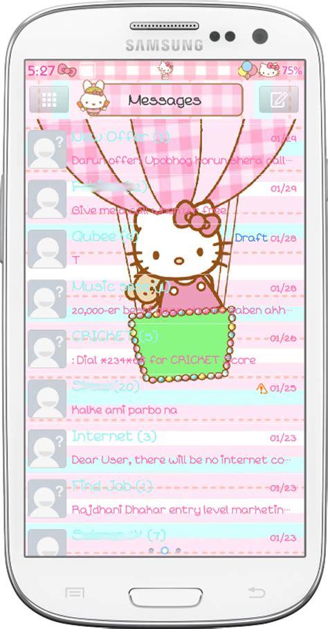 themes sms hello kitty pretty droid themes hello kitty amusement park go sms