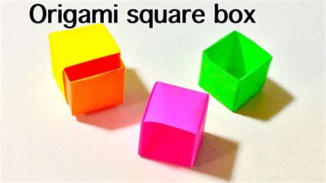 Origami Square Box With Lid - origami square box tutorial handsome origami square