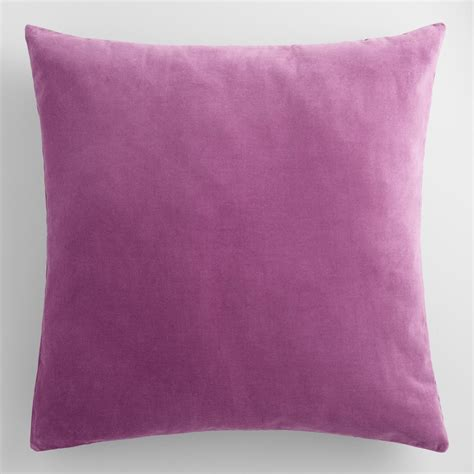 Velvet Throw Pillows Amethyst Purple Velvet Throw Pillow World Market