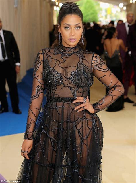 Lala Dress met gala 2017 la la anthony stuns in sheer dress daily