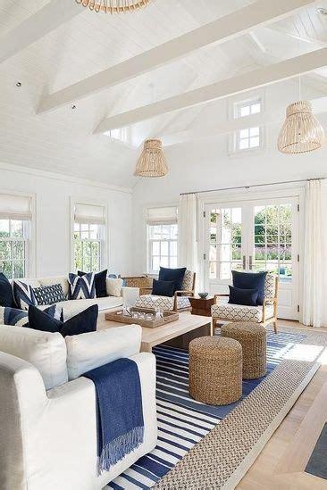 calm serene blue white coastal living room blue