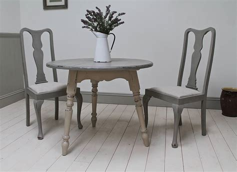set of four painted high back dining chairs by distressed