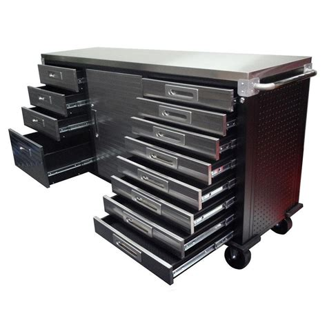 ultrahd rolling storage cabinet with drawers by ultra heavy duty seville classics ultra hd 12 drawer rolling workbench with