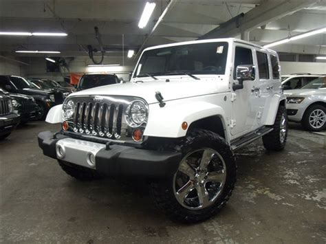 custom jeep white custom white jeep wrangler unlimited by eastchester customs