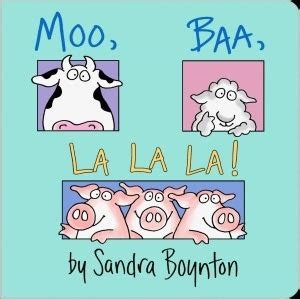 libro moo baa la la 20 best images about baby books on belly button red barns and sandra boynton