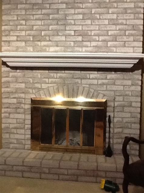 Should I Paint Brick Fireplace trying to decide if i should paint the grey brick on