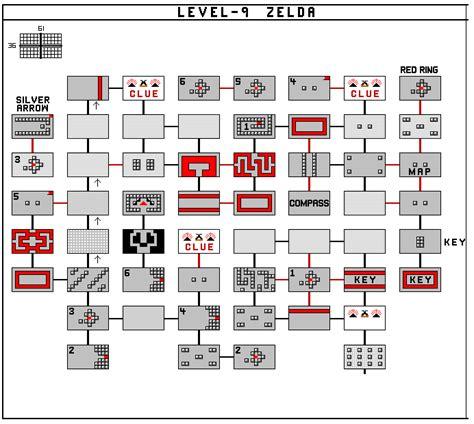 legend of zelda map dungeon 9 the legend of zelda maps zelda elements