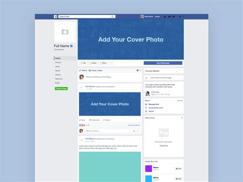 facebook template layout freebie download photoshop