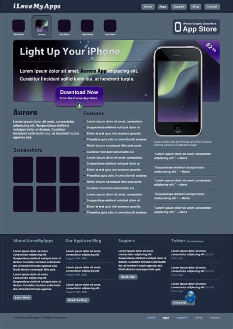 tutorial website in photoshop create a promotional iphone app site in photoshop