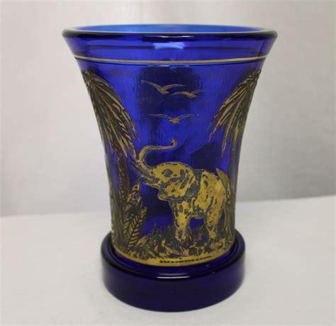 Moser Vase by Bargain S Antiques 187 Archive Moser Vase Blue