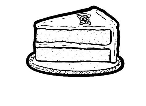 coloring pages of a piece of cake chocolate cake netart