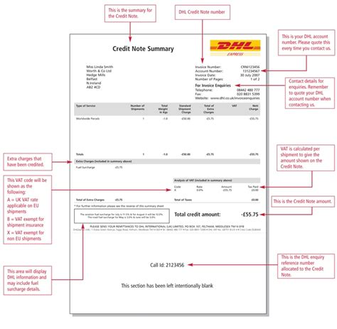 Company Credit Note Format Credit Notes
