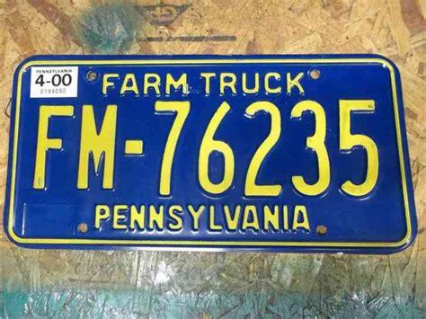 pa farm truck farm truck pennsylvania license plate pa penna
