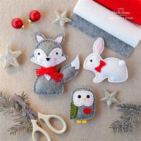 felt animal christmas ornament patterns svoboda2 com