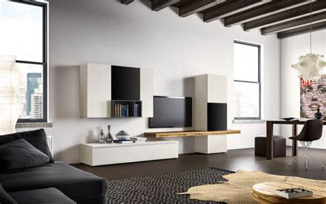 soggiorno bianco e nero mobile soggiorno in bianco e nero napol arredamenti