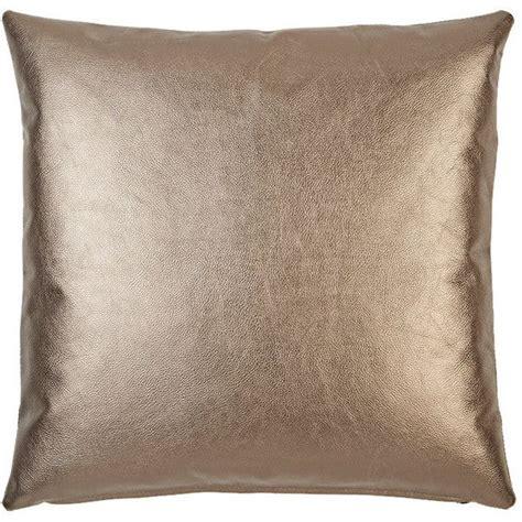 Metallic Throw Pillows by Barneys New York Metallic Leather Front Pillow 235