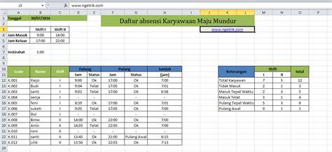 format laporan absensi pegawai contoh daftar hadir jam karyawan di excel update