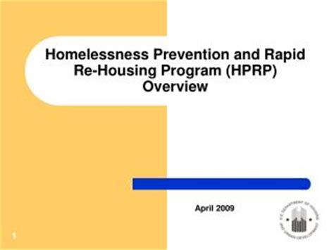 rapid re housing program ppt documentation requirements for hprp improving the process powerpoint