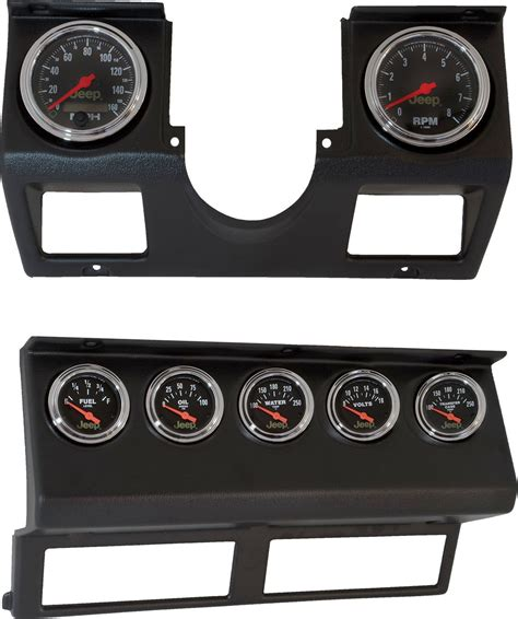 wood panel jeep wrangler auto meter 7040 dash panel with gauges for 87 95 jeep