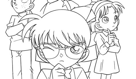 Detective Conan Coloring Pages Free Coloring Pages For Kids Detective Conan Coloring Pages