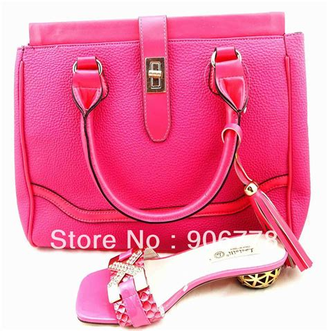 j801 fuschia pink color italy shoes and bag pretty